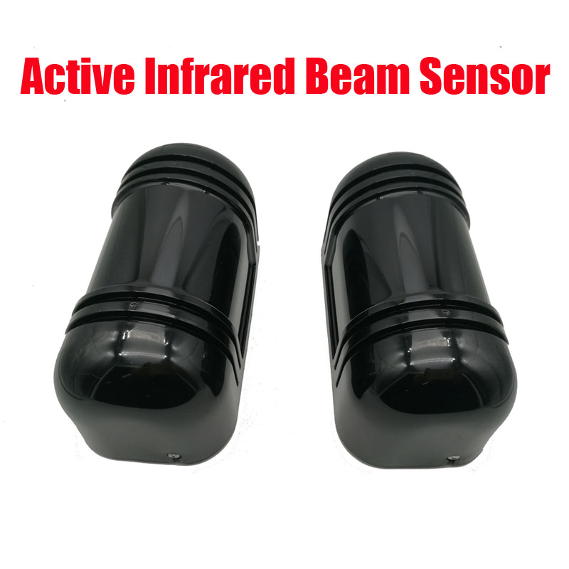 Free Shipping Photoelectric Dual Beam Perimeter Fence Active Infrared IR Sensor Barrier Detector Window Outdoor Intrusion Alarm<br>