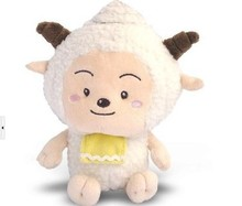 Movie &TV about 28cm lazy goat plush toy sheep doll gift w3914(China)