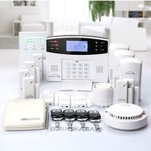 HOMSECUR Wireless&wired GSM Home Security Alarm System (Support English/ES/DE/FR/RU voice)(China)