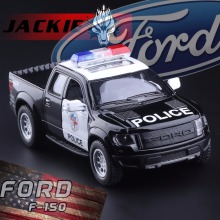 Free Shipping 1:46  Diecast Metal Ford F150 SVT Raptor SuperCrew Police Children Education Alloy Model Toy Cars Gift For Kids