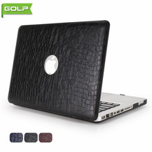 "Cover&Case for MacBook Pro 13.3"" No Retina, GOLP Crocodile Grain PU Leather Cover PC Laptop Case for MacBook Pro 13.3"" No Retina(China)"
