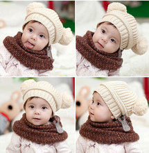 1 PC 5 Colors New 2016 Winter Warm Lovely Baby Kids Girls Toddler Knitted Crochet Beanie Hat Free Shipping