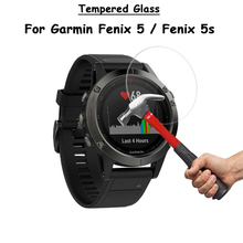 For Garmin Fenix 5 5s / Fenix5 Fenix5s Watch Clear Tempered Glass Screen Protector Ultra Thin Explosion-proof Protective Film