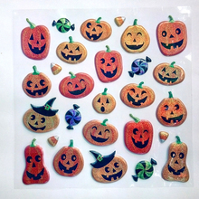 Halloween decoration Party Pumpkin stickers Classic toys Cartoon sticker Halloween activities accessories Toys for children(China)