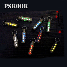 PSKOOK Automatic Light Keychain Titanium Tritium Self-luminous Fluorescent Tube Glow Luminous Light Emergency Survival Tools