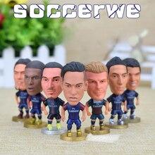 PSG [7PCS + Display Box] Soccer Player Star Figurine 2.5