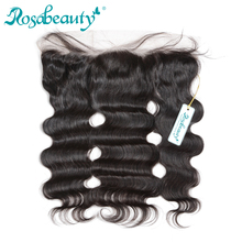 "Rosabeauty 13""*4"" Lace Frontal Closure Brazilian Body Wave Natural Hairline with baby hair 100% Human Remy Hair Products"
