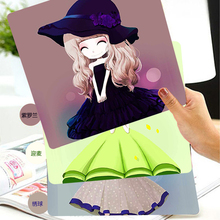 Newest Control Edition Cute Animation Mouse pad locking edge desktop laptop computer 20x20CM Mousepad Mat Lovely Girl Flower