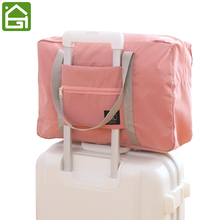 Large Capacity Folding Travel Storage Bag Waterproof Luggage Clothes Organizer Bag Lightweight Clothing Tote Bag with Zipper