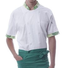 brief long sleeve chef uniforms autumn chef jacket top chef clothing white cook uniforms for adults cook clothing(China)