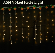 christmas outdoor decoration 3.5m Droop 0.3-0.5m curtain icicle string led lights 110V 220V New year Garden Xmas Wedding Party