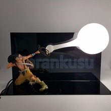 One Piece Usopp Skill DIY Led Light Display Toy 200mm Anime One Piece Usopp Collectible Action Figure Model Toy DIY127(China)