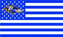 Baltimore Ravens white background with stars and stripes Flag 3FTx5FT Banner 100D Polyester flag 90x150cm(China)