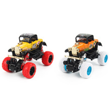 New Mini Alloy Metal Diecast Car Baby Toys Kids 1: 34 Scale Pull Back Beat-up Car Model Vehicle Toy for Children Boy Gift