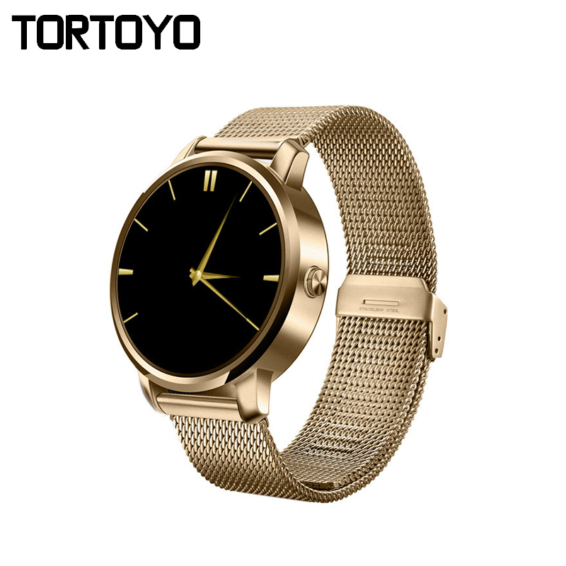 Stylish V360 Men Bluetooth Smart Watch Round Screen Steel Band Smartwatch Wristwatch iPhone Samsung Android Phone Clock  -  TOPPOP Factory Store store