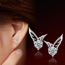 Silver Colour angel wing wings earrings Lady fashion high quality crystal jewelry manufacturers, wholesale