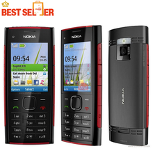 Original Unlocked X2 Original Nokia X2-00 Bluetooth FM JAVA 5MP Cell Phones Free Shipping(China)