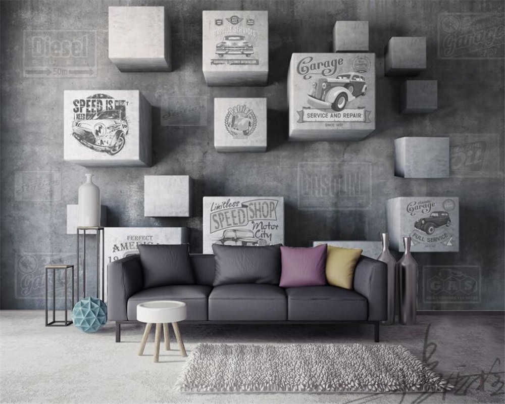 papel de parede Home Decorative Wallpaper Three - dimensional Block Concrete Wall Wallpaper Mural Living Room Bedroom Wallpaper<br><br>Aliexpress
