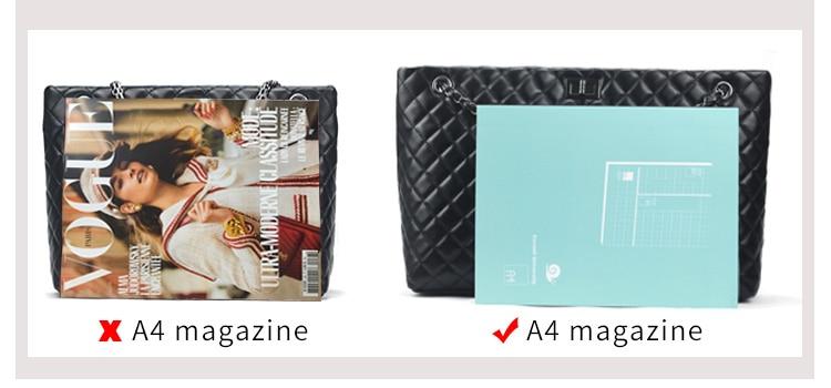 2017 Luxury Brand Women Plaid Bags Large Tote Bag Female Handbags Designer Black Leather Big Crossbody Chain Messenger Bag Girl