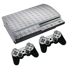 OSTSTICKER Sliver Iron Vinyl Skin Sticker for sony playstation 3 Fat for PS4 Fat sticker China manufacturer(China)
