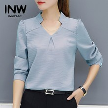 Buy 2018 New Women Blouses Work Shirt Striped V-neck Tops Ladies Fashion Spring Shirt Women's Long Sleeve Tops Blusas Female for $8.32 in AliExpress store
