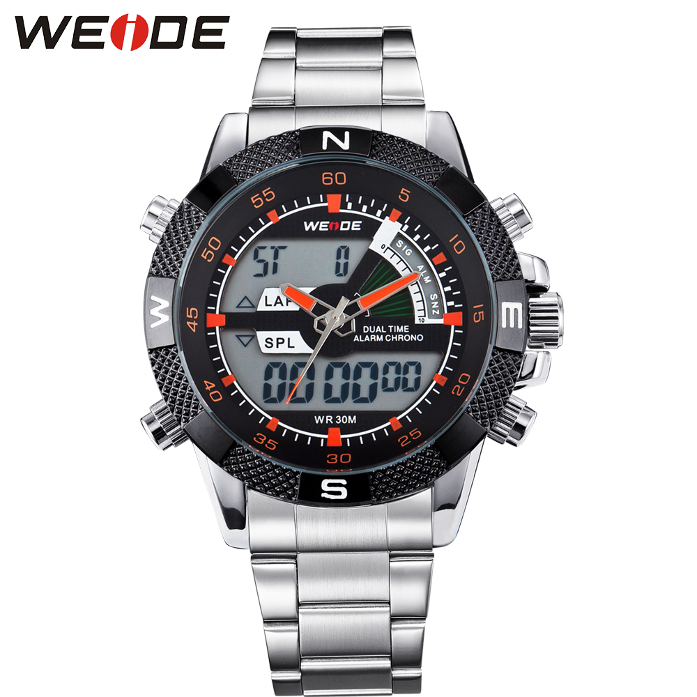 Hot Selling WEIDE Watch Outdoor Mens Sport Watches Analog Digital Display 30M Waterproof Multi Function Relogio Mascul Gift Box<br>