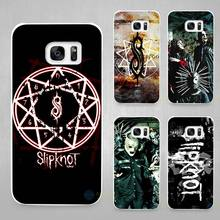 Slipknot Rock Hard White Coque Shell Case Cover Phone Cases for Samsung Galaxy S4 S5 S6 S7 Edge Plus(China)