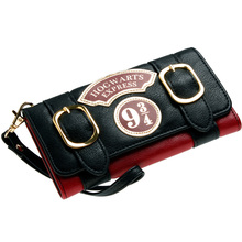 Harry Potter Hogwarts Express 9 3/4 Double Buckle Flap Wallet DFT-6003(China)