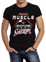 Newest 2017 T Shirt Men Tshirt T Shirt Funny T-Shirt Men American Muscle Car Vintage Design Your Own Shirt(China)