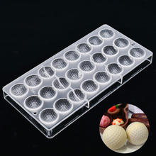 Golf Ball Shaped DIY Chocolate Mold Jelly Mould Baking Tray 3D Candy Tool(China)