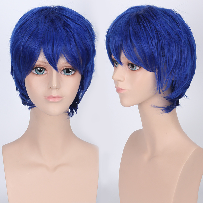 Coshome Naruto One Piece Fairy Tail Bleach Yato Cosplay Short Wig For Men Women Black Brown Yellow Red Blue Wigs (10)