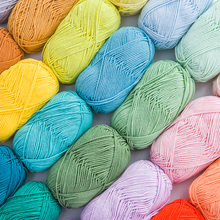 10 Colors Can Be Mix Four Strands Baby Milk Yarn Cotton Crochet Thread Hand Knitting Wool Line For Rainbow Mat