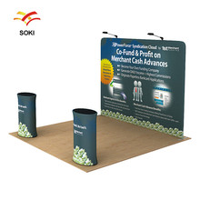 2x2m OEM Size Straight Exhibition Booth Pop Up Display Stands For Trade Show Events and Advertising Backdrop Wall Banner