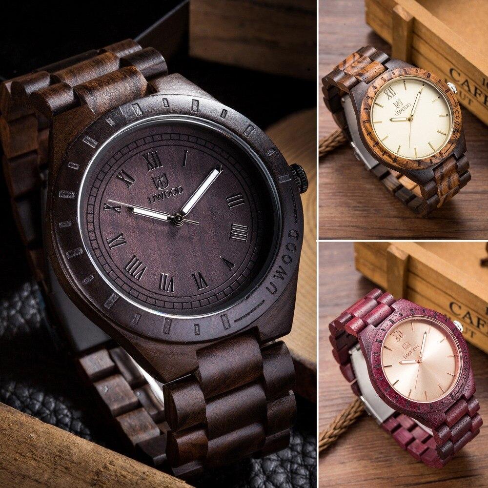 2016 New Wooden Watch Man Brand Uwood Quartz Wood Watch With Wood straps Men Relogio Masculino Watches Vintage Retro Wood Watch<br>