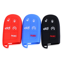 Silicone Car Key Case Cover For JEEP Grand Cherokee Dodge JCUV dart Journey Chrysler 300C Fiat car key