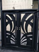 hand made custom design forged iron wrought iron doors for sale wid-5
