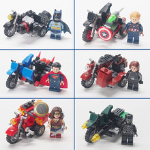 Batman Super Heroes The Avengers Figures Military weapon Motorcycle Building Blocks Bricks Compatible legoed toys for children(China)