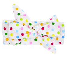 1Pc Kids Children Knotted Headband Bow Knot Hairband Multicolor Dot Headwrap Baby DIY Turban(China)