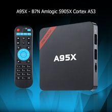 NEXBOX A95X Smart TV Box Amlogic S905X Quad core 64 Bit Cortex A53 4K x 2K H.265 2.4GHz WiFi Bluetooth 4.0 2GB + 8GB PK X92 X96