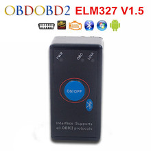 Mini ELM327 Bluetooth V1.5 With Power Switch Works On Symbian/Android/Windows OBD2/OBDII Diagnostic Scanner Free Shipping