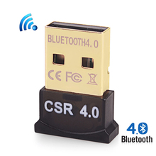 USB Bluetooth Adapter V4.0 Dual Mode Wireless Bluetooth Dongle 3Mbps Bluetooth Computer Adapter Portable For Win 7 8 10 Vista XP(China)