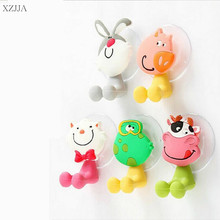 2pcs/SET Hot Sale Cute Cartoon Animal Suction Cup Tooth Brush Holder Bathroom Accessories Toothbrush Hanging Bathroom Fitting(China)