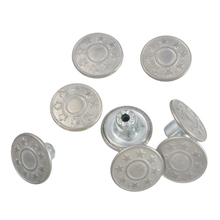 Hoomall 100Sets 15mm Jeans Buttons No Sew Metal Buttons Rapid Rivet Button Snaps Fasteners Combined Button Garment Accessories