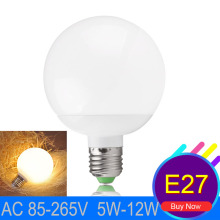 Ampoule led E27 220V High Lumen Led Bulb Lamp SMD 5730 5W 7W 9W 12W Ball Global  LED Bulb E27 360 Degree  Lamparas Led Lamps