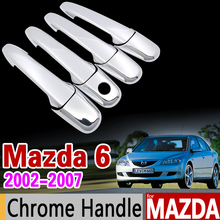 for Mazda 6 2002-2007 Chrome Handle Cover Trim Set Mazda6 Atenza 2003 2004 2005 2006 Wagon Car Accessories Sticker Car Styling(China)