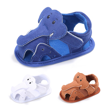 New Summer Style Infant Lovely Baby Boys Girls Soft Leather Cartoon Elephant First Walkers Skid-Proof Bebe Shoes Prewalker