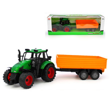 Big Farm Tractors Trailers Models Toy High Simulation ABS Farmer Model Engineering Car Truck Vehicle Educational Toys Kids Gift(China)