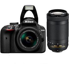 New Nikon D3400 Camera & AF-P 18-55mm + AF-P DX 70-300mm F/4.5-6.3G ED VR Twin Lens KIT(Hong Kong)