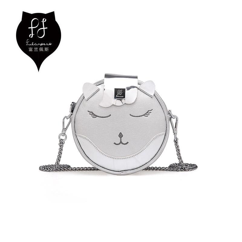 FULANPERS Cat Design Mini Shoulder Bag For Women 2017 Female Handbag Chain Messenger Quilted Leather Crossbody Bag For Girls<br>
