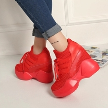2016 Height Increasing Summer Women's Casual Shoes Sport Fashion Walking Shoes for Women Swing Wedges Shoes Breathable winter